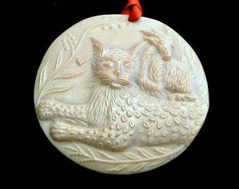 Handmade Artisanal Beeswax Ornament - PEACEABLE KINGDOM