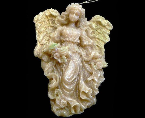 Handmade Artisanal Beeswax Ornament - VICTORIAN ANGEL