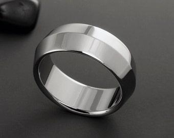 Titanium Wedding Ring, Mens Rings, Womens Ring, Titanium Band, Plain Titanium Ring, Peaked Ring, Mens Wedding Band, Engagement Ring, Custom