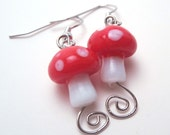 Magic Mushroom Earrings (with or without swirl)