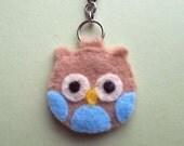 Felt Kawaii Owl Keychain