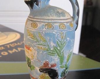 Mexian motif ceramic vase
