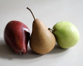 Pear Trio - 5x7 Fine Art Photograph - Fruitful Three