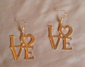Gold Colored LOVE earring