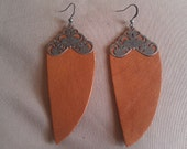 Camel Colored Abstract Dangle Earring