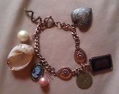 Copper Colored Charm Bracelet