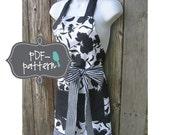 Women's Apron PDF (INSTANT DOWNLOAD Sewing Pattern)