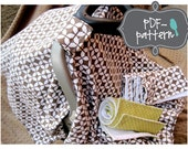 Car Seat Canopy and Burp Cloths PDF (INSTANT DOWNLOAD Sewing Pattern)