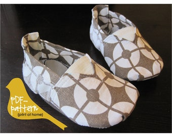 Canvas Shoe PDF (INSTANT DOWNLOAD Sewing Pattern)