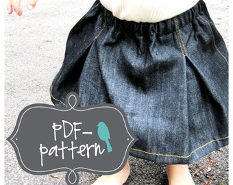 Pleated Girl Skirt PDF (INSTANT DOWNLOAD Sewing Pattern)