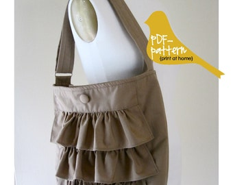 Ruffle Bag PDF (INSTANT DOWNLOAD Sewing Pattern)