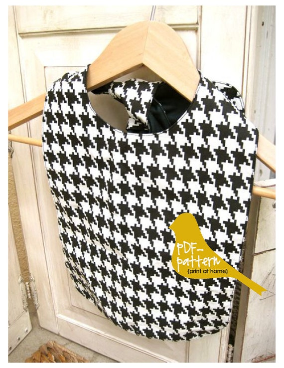Button or Tie-On Bib PDF (INSTANT DOWNLOAD Sewing Pattern)