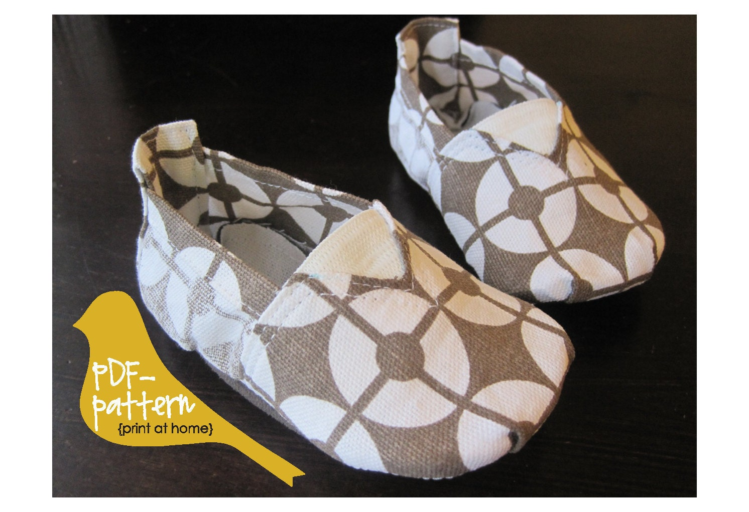Canvas Shoe PDF INSTANT DOWNLOAD Sewing Pattern