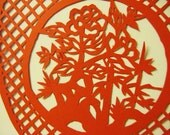 Chinese Paper Cut art - Flower Vase
