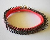 Neon pink Fishbone Wrap Bracelet