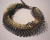 Multilayer Fishbone Chain Bracelet