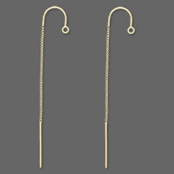 Sterling Silver Ear Thread with Single Chain and Ear Rest - 1 pair  SALE!
