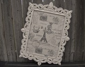 Vintage Style MEMO CORK BOARD - Ornate - 16x20 - You Choose the Color - Shabby Chic Wedding or Home