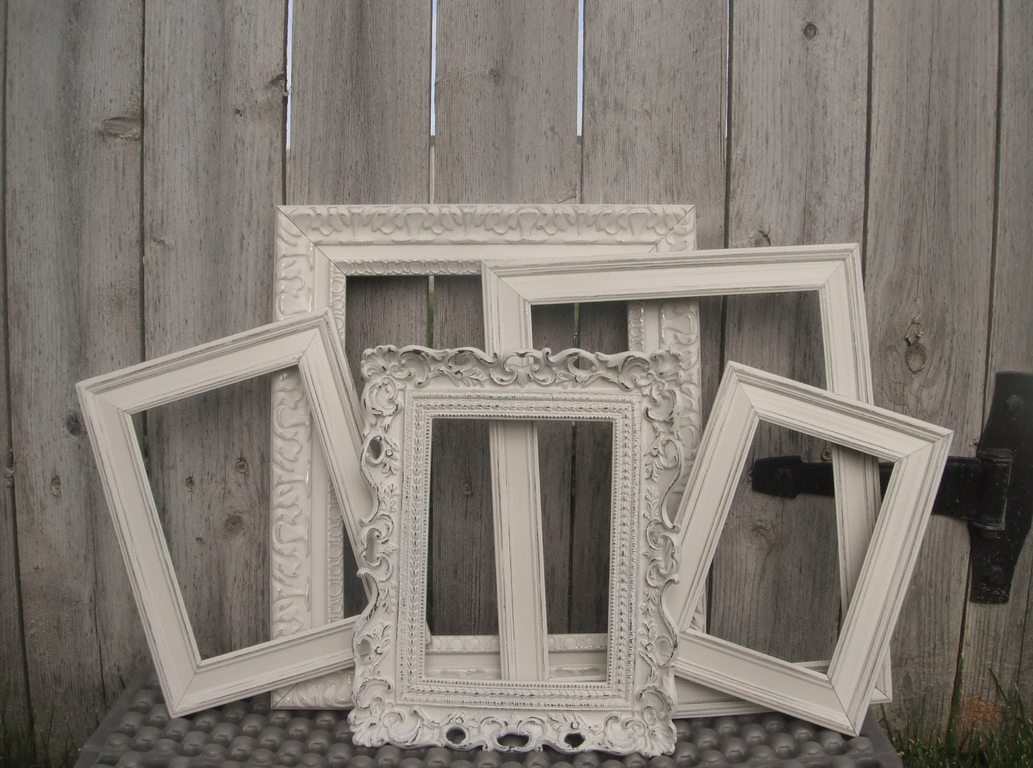 vintage style picture frames shabby chic wedding by vintageevents. Black Bedroom Furniture Sets. Home Design Ideas