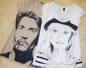 Custom Hand Painted T-shirt/ T-shirt dipinta a mano personalizzata
