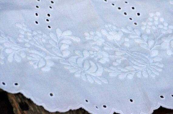 Belgian Apron Vintage White