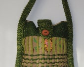 Bag Handwoven Hessian cloth bag.woven purse