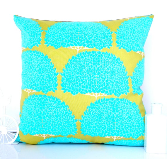 Chartreuse cushion cover chartreuse pillow turquoise pillow turquoise cushion green cushion green pillow  throw pillow decorative pillow