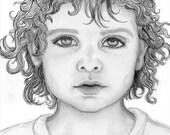Custom portrait - Original pencil drawing from a photograph - TheKestrelAndTheSea