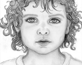 Custom portrait - Original pencil drawing, A4 / Letter size, drawn by UK artist Kes Samuelson, from your photograph.