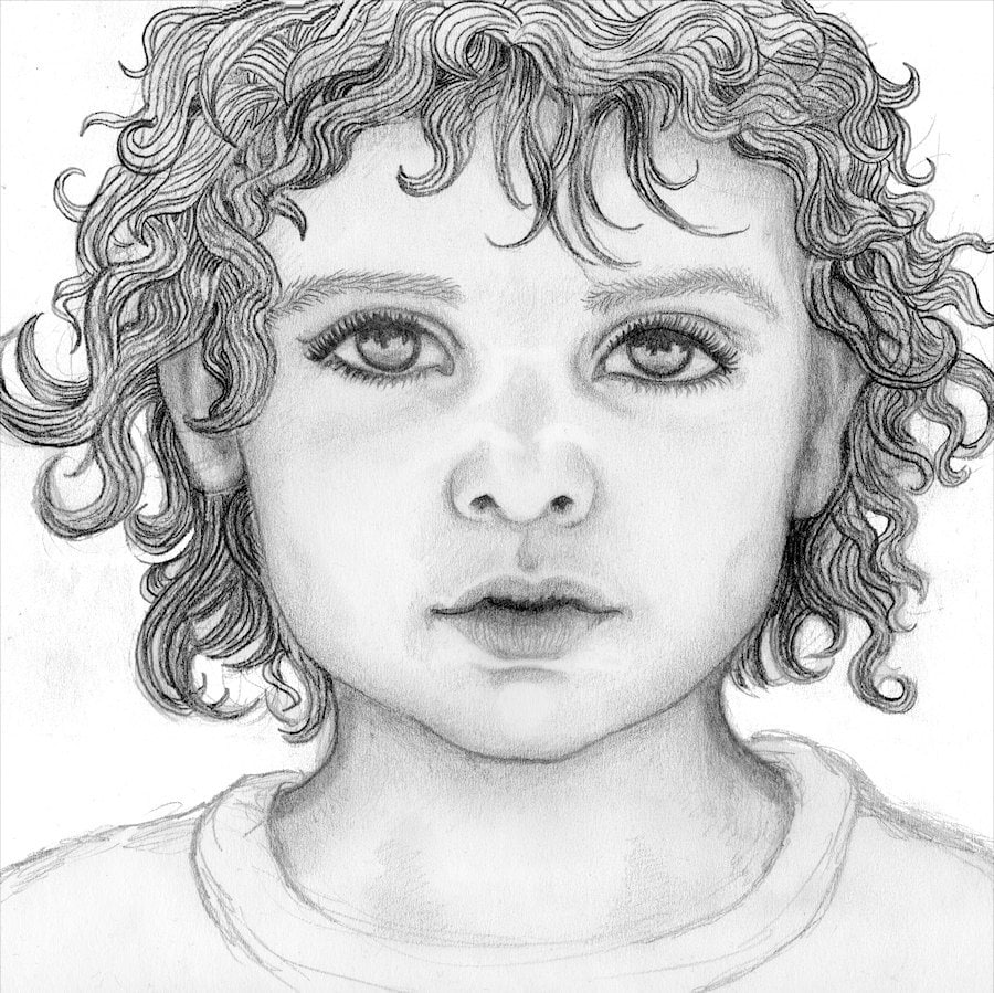 Scribble Drawing Portraits : Custom portrait original pencil drawing a letter size