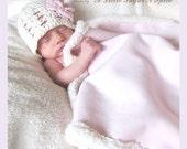 Crochet Baby Hat with Interchangeable Flower