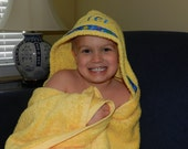 Personalized Pineapple (Yellow) Hooded Towel