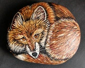 Painted Fox on a Rock