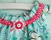Girls Sundress Timeless Treasures Aqua White Pink Polkadot Sizes 6m 12m 2T 3T  . Toddler Girls Easter Dress