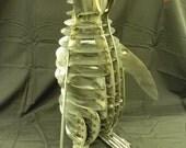 """Metal Art, """"Penguin"""" Steel Penguin, Metal Penguin, Metal Sculpture"""