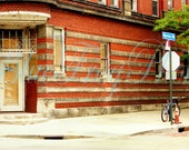 Murray Hill 9X14 Photo Fine Art Photograph Print Bicycle Brick Building Historic District Little Italy Door Cleveland Ohio - BlueFrogPhoto