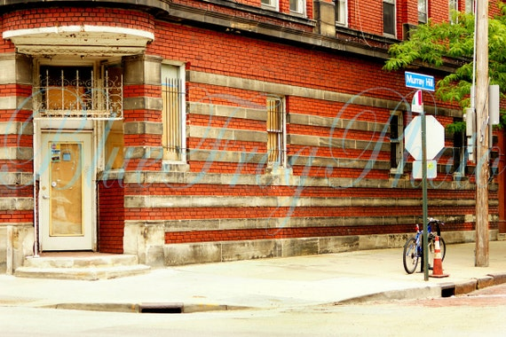 Murray Hill 6.6X10 Photo Fine Art Photograph Print Bicycle Brick Building Historic District Little Italy Door Cleveland Ohio