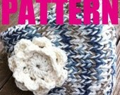Pattern Knitted Winter Headband Knit Crochet