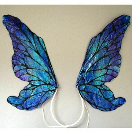 costume fairy wings iridescent translucent small bluepurple