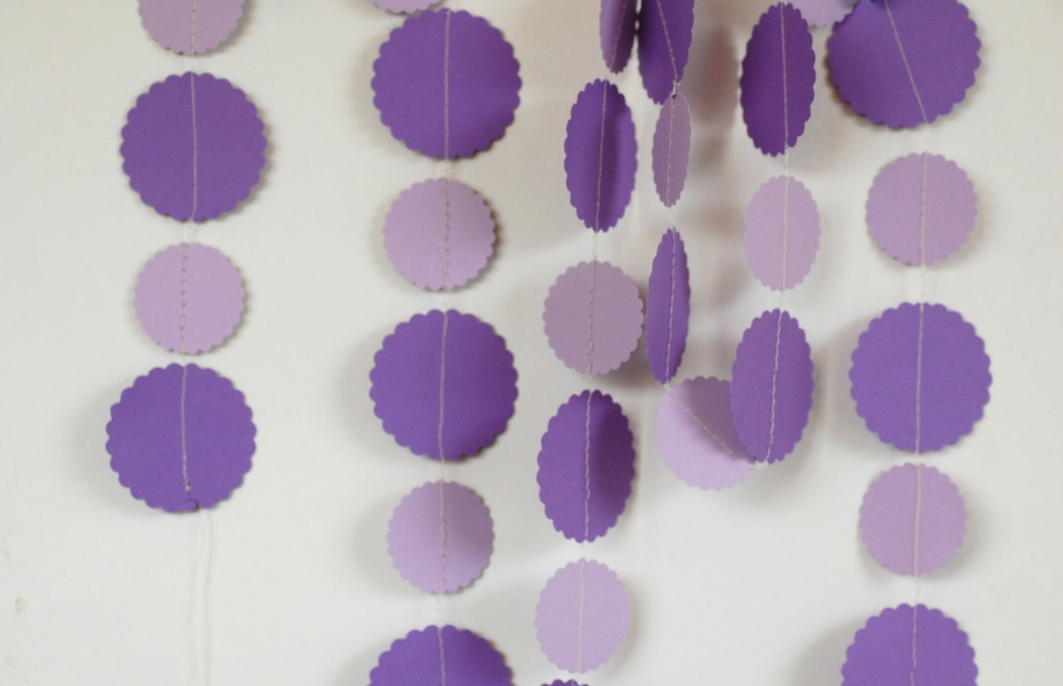 Purple Paper Garland Baby Shower Decoration baby by hoopdaloop