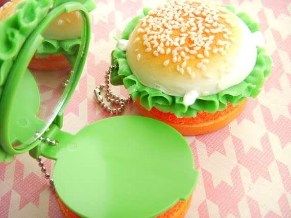 Squishy Chicken Burger Mirror by KawaiiEssence on Etsy