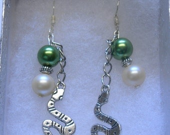 Snake   Earrings on 925 SS Earwires - hand-designed