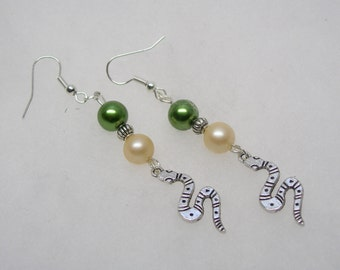 Harry Potter (Slytherin House)  New Design Earrings on 925 SS Earwires