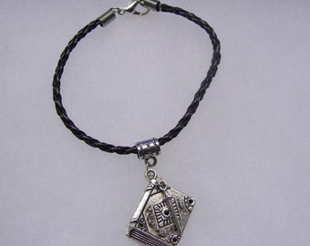 Harry Potter Inspired Book of Spells With Wand Bracelet in Your Choice of Color