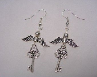 Harry Potter  Flying  Key Earrings