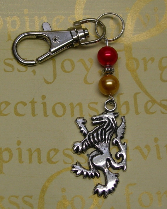 Harry Potter Book Keychain : Harry potter gryffindor house keychain or book bag charm