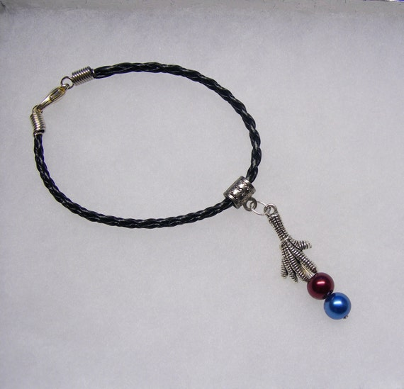 Harry Potter Inspired Raven Claw House Braided Leather Bracelet in Your Choice of Color