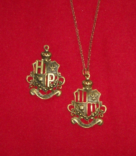 Harry Potter Inspired Crest / Shield Pendant Necklace (Limited Supply)