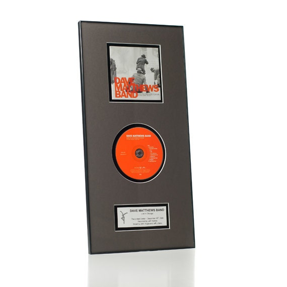 CD Album Frame & Matting Combo w/ Custom Album Label