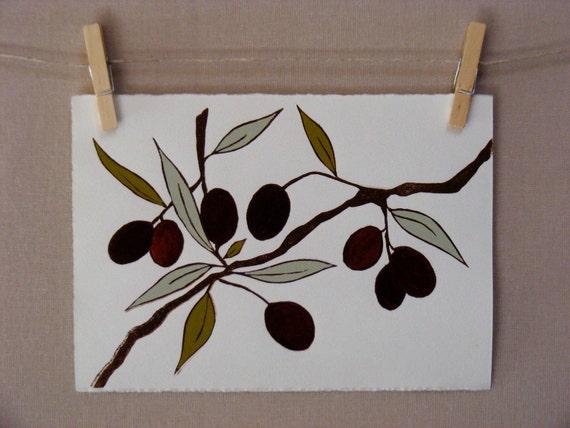 Olives - PRINT - Handmade